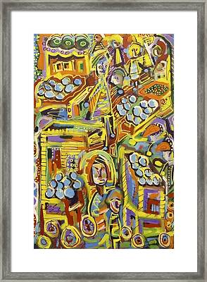 The Marketplace  Framed Print by Isaac Rudansky