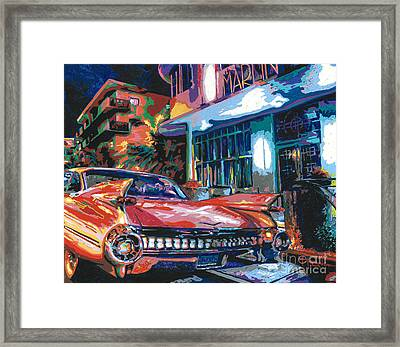 The Marlin Hotel Framed Print by Maria Arango