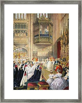 The Marriage At St Georges Chapel Framed Print by English School