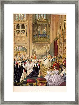 The Marriage Of The Prince Of Wales Framed Print by British Library