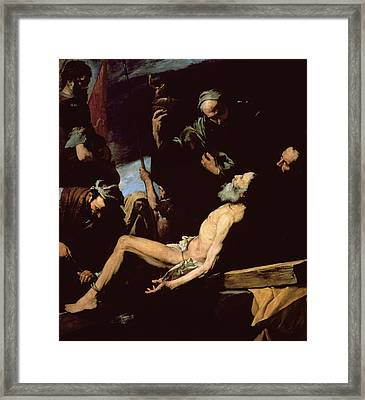 The Martyrdom Of Saint Andrew Framed Print by Jusepe de Ribera