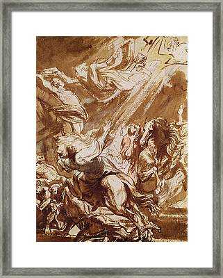 The Martyrdom Of Saint Catherine Framed Print by Sir Anthony van Dyck