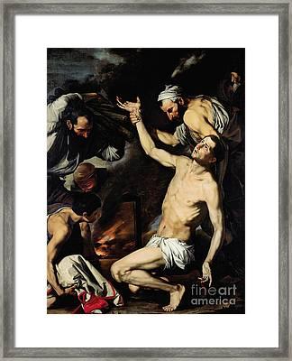 The Martyrdom Of Saint Lawrence Framed Print by Jusepe de Ribera