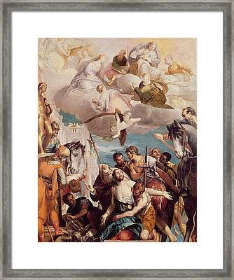 The Martyrdom Of Saint George Framed Print by Veronese