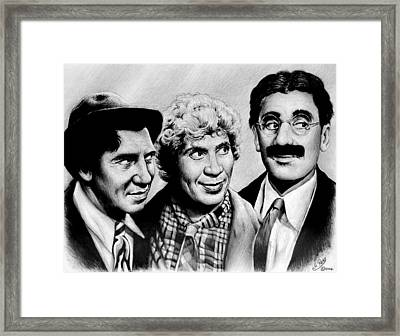 The Marx Brothers Framed Print by Andrew Read