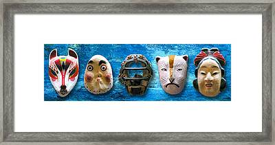 The Mask Collection Framed Print by Ron Regalado