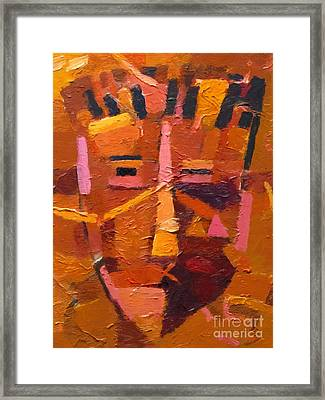 The Mask Framed Print by Lutz Baar