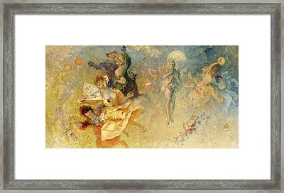 The Masked Ball Framed Print by Jules Cheret