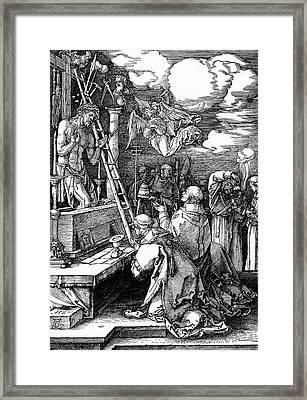 The Mass Of St. Gregory Framed Print by Albrecht Duerer