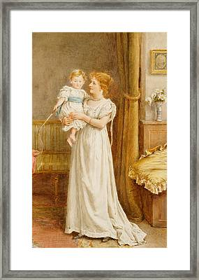 The Master Of The House Framed Print by George Goodwin Kilburne