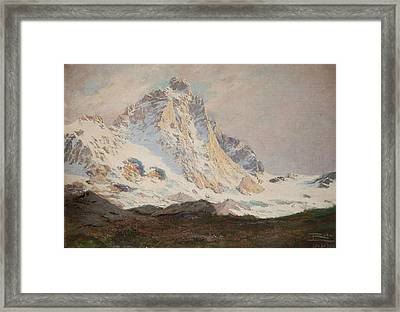 The Matterhorn, 1910 Framed Print by Leonardo Roda