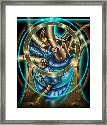 The Mechanical Heart Framed Print by James Christopher Hill