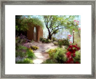 The Meditative Garden  Framed Print by Colleen Taylor