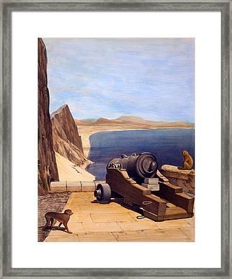 The Mediterranean Battery, Gibraltar Framed Print by Captain J. M. Carter