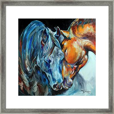 The Meeting Framed Print by Marcia Baldwin