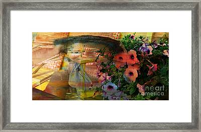 The Memory Of A Village Girl Framed Print by Fania Simon