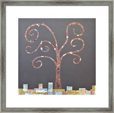 The Menoa Tree Framed Print by Angelina Vick