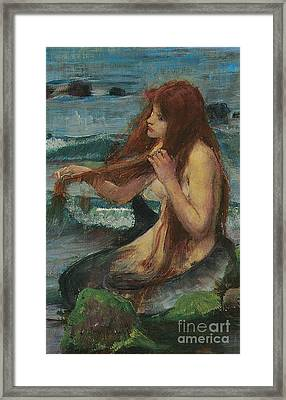 The Mermaid Framed Print by John William Waterhouse