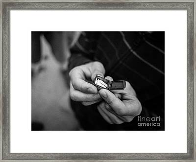 The Message Framed Print by Edward Fielding