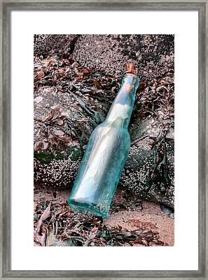 The Message Framed Print by JC Findley