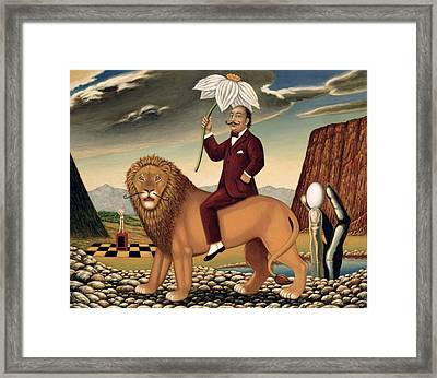 The Metamorphosis Of A Narcissist Framed Print by Frances Broomfield