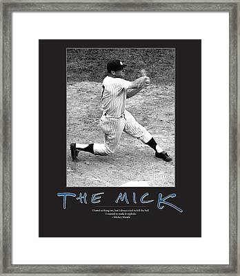The Mick Mickey Mantle Framed Print by Retro Images Archive