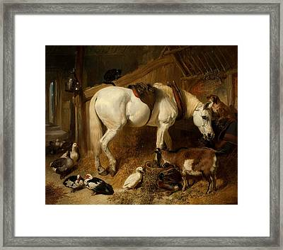 The Midday Meal, 1850 Framed Print by John Frederick Herring Snr