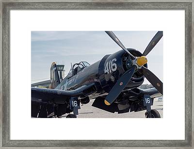 The Mighty Corsair Framed Print by Brandon Hussey
