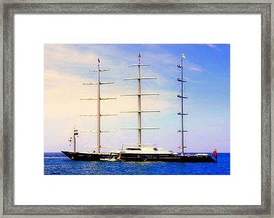 The Mighty Maltese Falcon Framed Print by Karen Wiles
