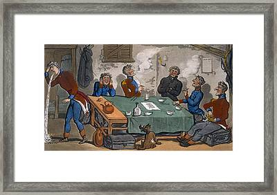The Military Adventures Of Johnny Framed Print by Thomas Rowlandson