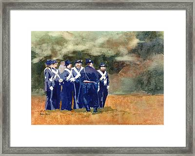 The Militia Framed Print by Kris Parins