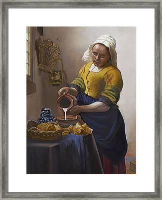 The Milkmaid Framed Print by Caroline  Stuhr
