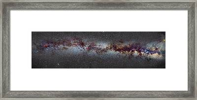 The Milky Way From Scorpio And Antares To Perseus Framed Print by Guido Montanes Castillo