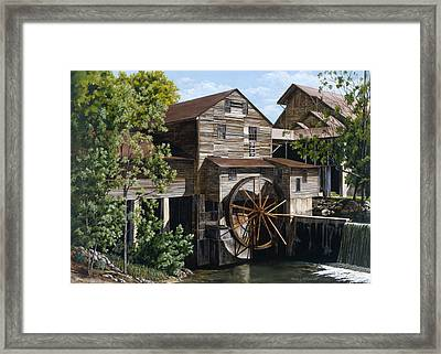 The Mill At Pigeon Forge Framed Print by Marla J McCormick