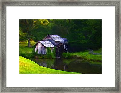 The Mill Framed Print by Ron Jones