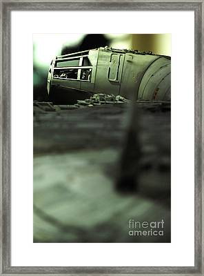 The Millennium Falcon Framed Print by Micah May