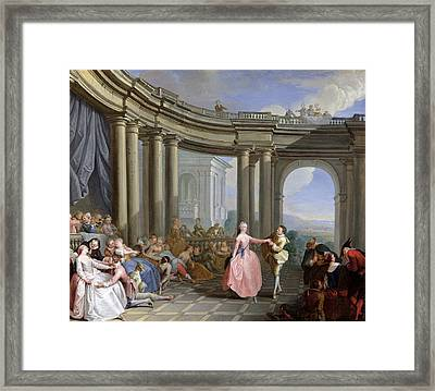 The Minuet Framed Print by Jacques Sebastien Le Clerc