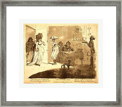 The Misers Feast Framed Print by Gillray, James (1756 Or 1757-1815), British