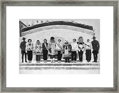 The Miss Alaska Competition Framed Print by Underwood Archives
