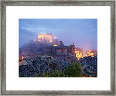 The Mists Of Soriano Framed Print by Ellen Henneke