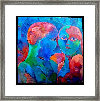 The Misunderstanding Framed Print by Maya Hiort Petersen