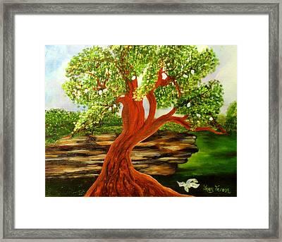 The Money Tree Framed Print by Janis  Tafoya