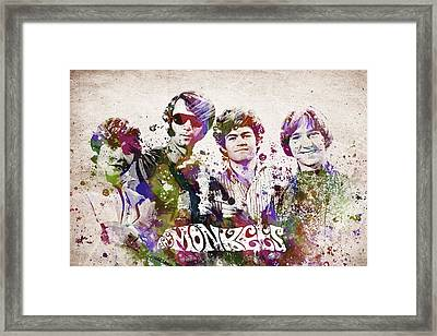 The Monkees Framed Print by Aged Pixel