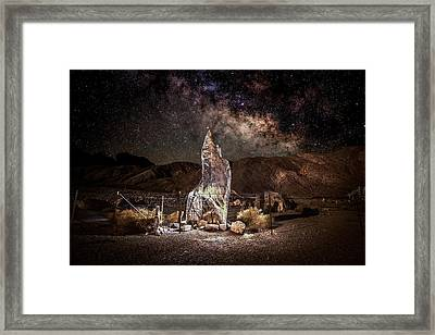 The Monolith - Protect At All Cost Framed Print by Peter Tellone