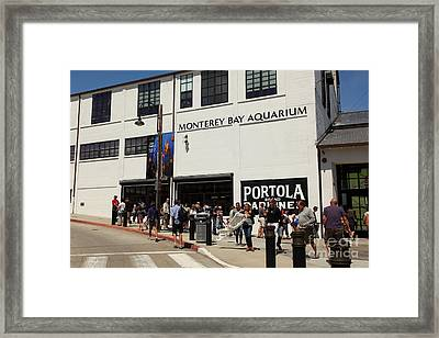 The Monterey Bay Aquarium On Monterey Cannery Row California 5d25015 Framed Print by Wingsdomain Art and Photography