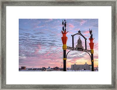 The Montgomery River Walk Framed Print by JC Findley