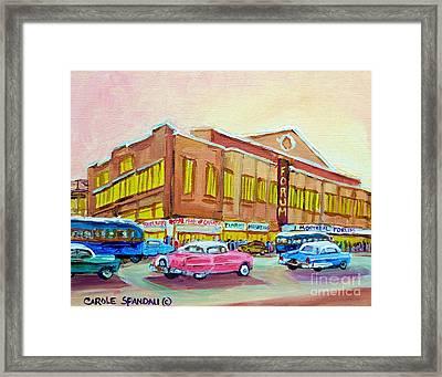 The Montreal Forum Framed Print by Carole Spandau