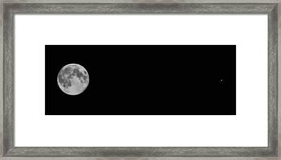 The Moon And Mars Framed Print by Joann Vitali