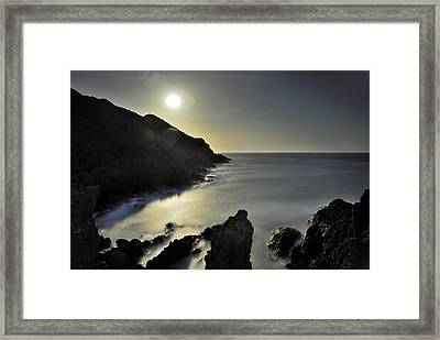 The Moon Framed Print by Guido Montanes Castillo