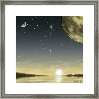 The Moon Lagoon Framed Print by Brian Wallace